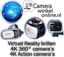 Virtual reality brillen, 360 graden camera's, action camera's